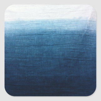 Blue Indigo Ombre Fade. Japanese Art! Square Sticker