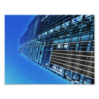 Blue Industrial Building A4 Poster