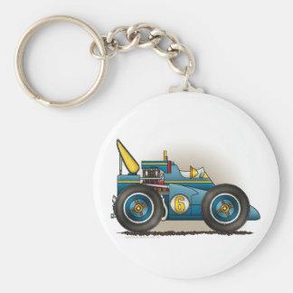 Blue Indy Race Car Key Chains