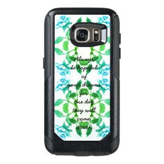 Blue Infinity Rose Pattern Inspirational Saying OtterBox Samsung Galaxy S7 Case