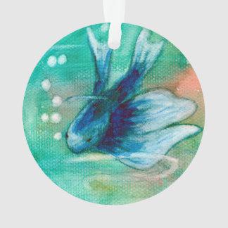 Blue Inky Betta Fish Ornament