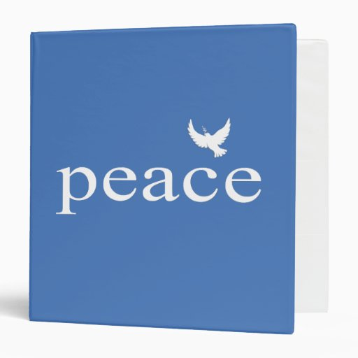 Blue Inspirational Peace Quote Binder