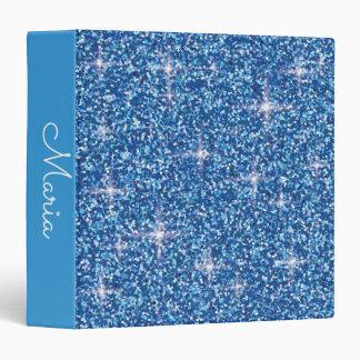 Blue iridescent glitter binder