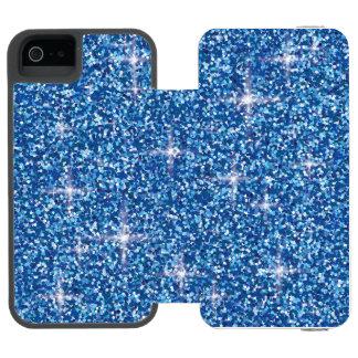 Blue iridescent glitter incipio watson™ iPhone 5 wallet case