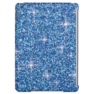 Blue iridescent glitter iPad air cover