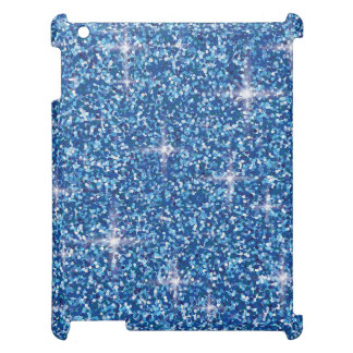 Blue iridescent glitter iPad case