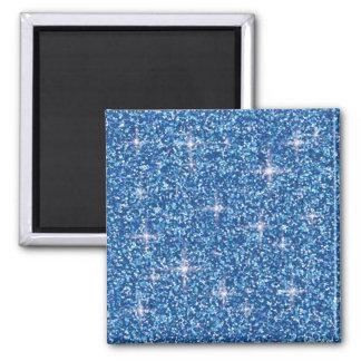 Blue iridescent glitter magnet