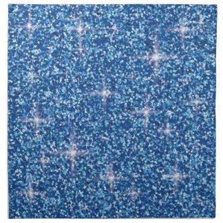 Blue iridescent glitter napkin