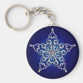 Blue Iridescent Star Keychain
