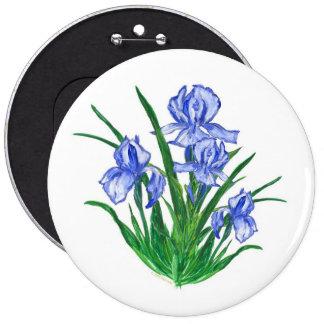 Blue Iris 6 Inch Round Button