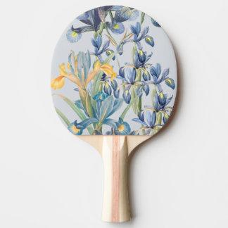 Blue Iris Botanical Flowers Floral Paddle Ping-Pong Paddle