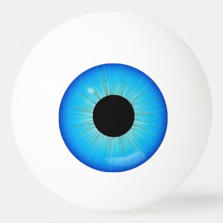 Blue Iris Eyeball Ping-Pong Ball