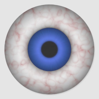 Blue Iris Eyeball Sticker