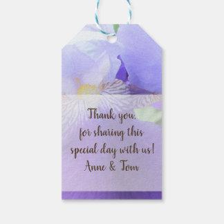 Blue Iris flower Custom Gift Tags