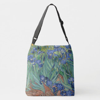 Blue Iris Flowers Garden Shoulder Tote Bag