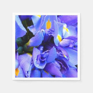 Blue Iris flowers Paper Napkins