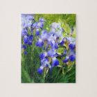 """Blue Iris Impressions"" Jigsaw Puzzle"