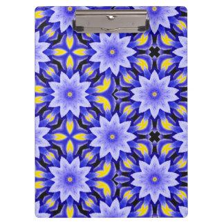 Blue Iris Pattern Clipboard