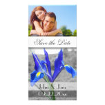 "Blue Iris  /photo  ""Save the Date"" Photo Card Template"