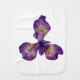Blue Iris Siberica Flower Burp Cloths