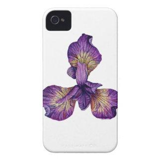 Blue Iris Siberica Flower Case-Mate iPhone 4 Case