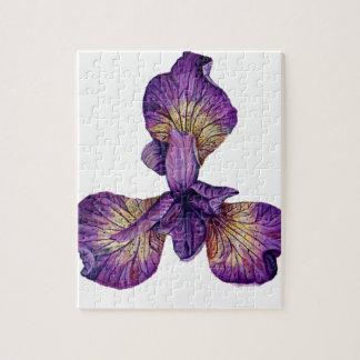 Blue Iris Siberica Flower Jigsaw Puzzle