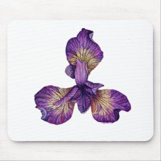 Blue Iris Siberica Flower Mouse Pad