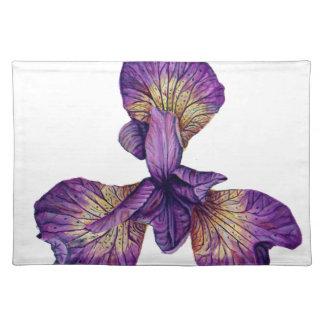 Blue Iris Siberica Flower Placemat