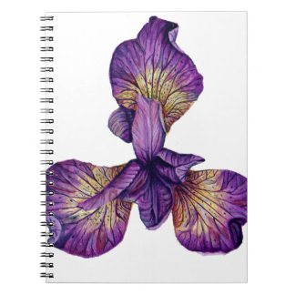Blue Iris Siberica Flower Spiral Notebook