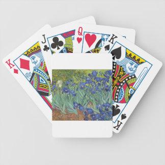 Blue Irises Bicycle Playing Cards
