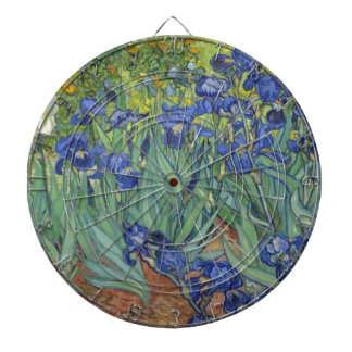 Blue Irises Dartboard