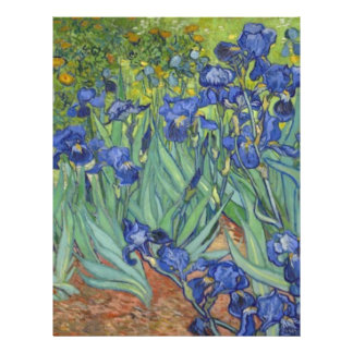 Blue Irises Letterhead