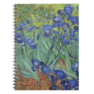 Blue Irises Notebook