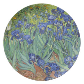 Blue Irises Plate