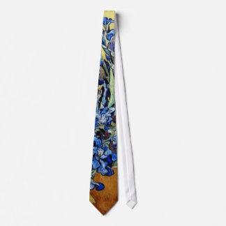 blue irises, Van Gogh Tie