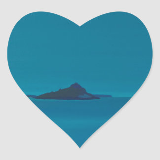 Blue island. heart sticker