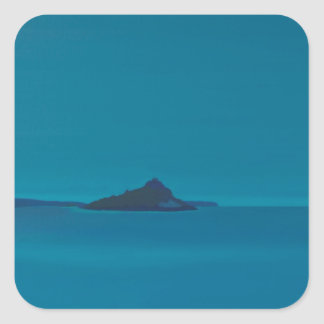 Blue island. square sticker