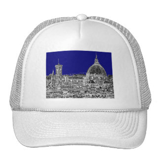 Blue Italian cathedral Mesh Hats