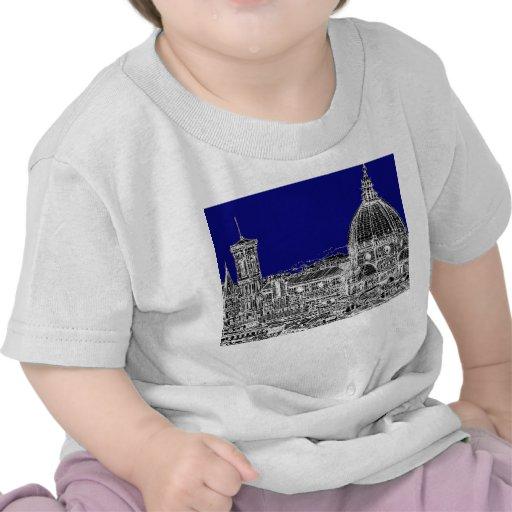 Blue Italian cathedral Tshirt