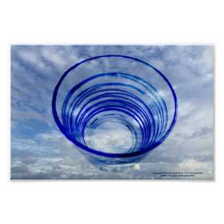Blue Italian Glass in the Sky Poster