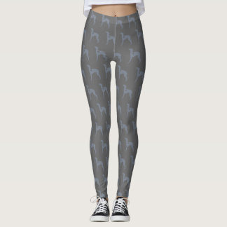 Blue Italian Greyhound leggings