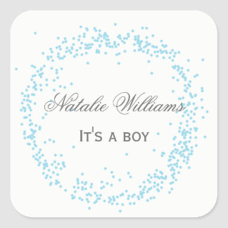 Blue It's a Boy Confetti - Square Sticker