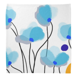 Blue Izumi flowers Bandana