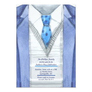 Blue Jacket Father's Day Invitation