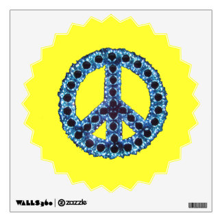 Blue Jagged Peace Starburst Wall Decal
