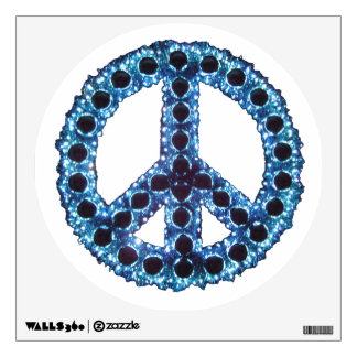Blue Jagged Peace Wall Decal