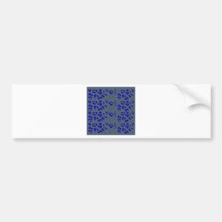 Blue jaguar design bumper sticker