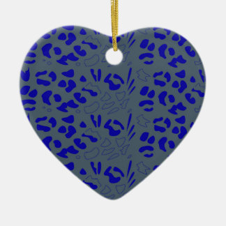 Blue jaguar design ceramic ornament