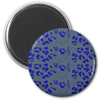 Blue jaguar design magnet