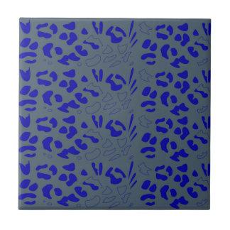 Blue jaguar design tile